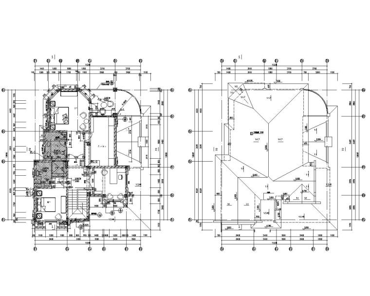 三层高档别墅结构施工图(CAD含建筑图)