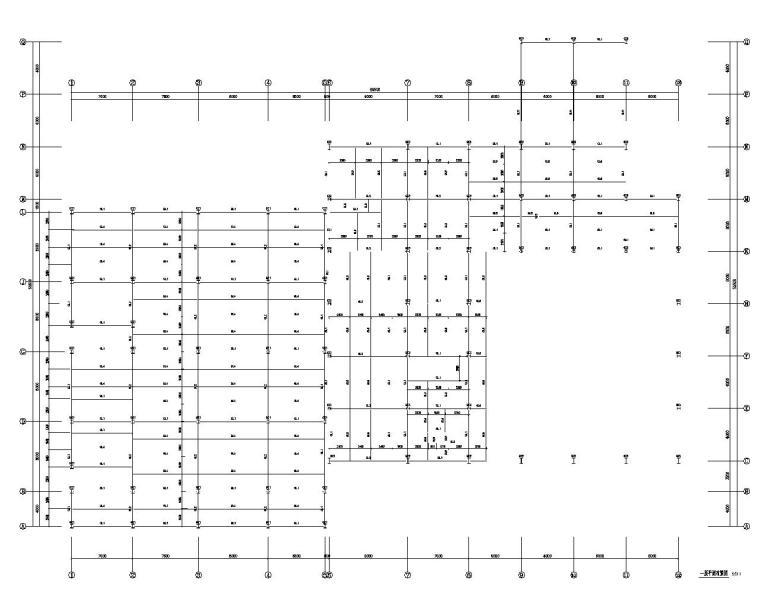 某汽车4S店门式钢架结构施工图(CAD)