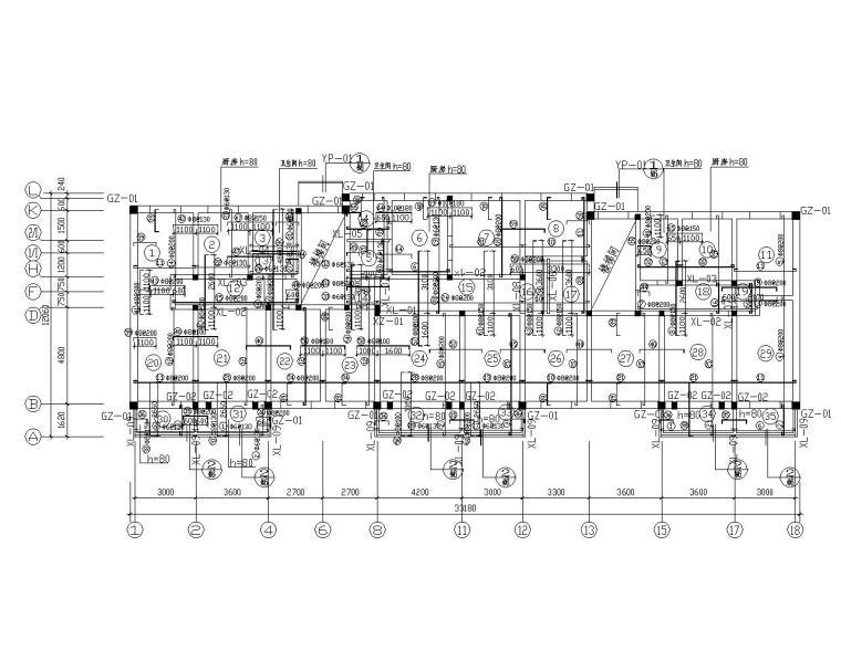 某五层砖混结构住宅施工图(CAD)