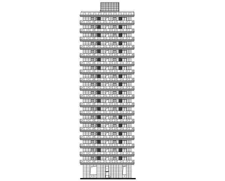 [上海]现代风格2栋住宅建筑施工设计