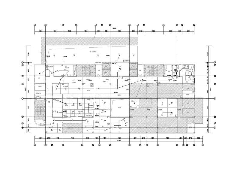 [一键下载]8套大型医院电气图纸合集-[福建]省立医院门诊楼电气施工图(强弱电)-4消防平面图