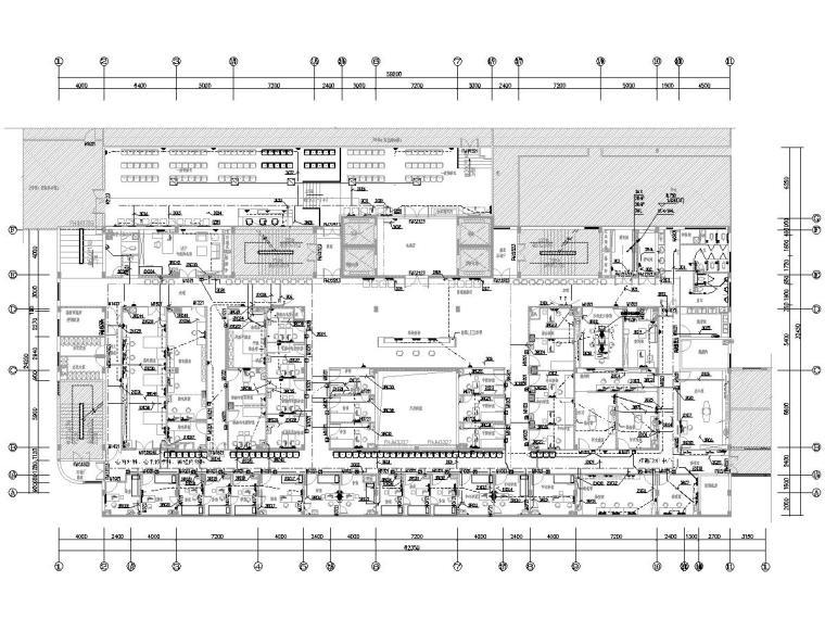 [一键下载]8套大型医院电气图纸合集-[福建]省立医院门诊楼电气施工图(强弱电)-2插座平面图
