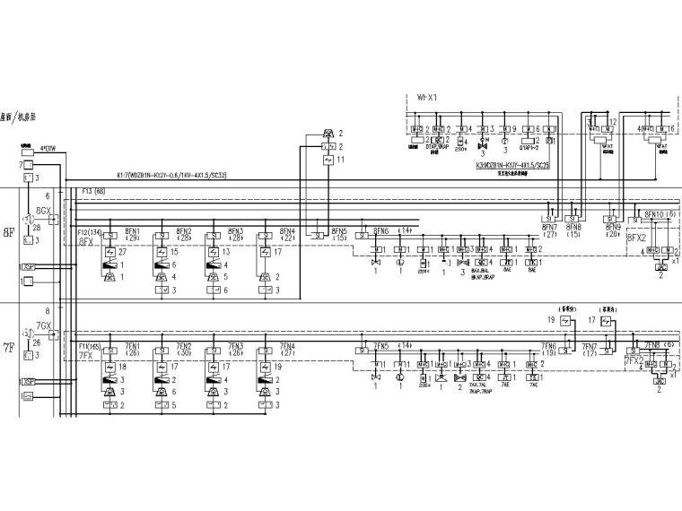 [一键下载]8套大型医院电气图纸合集-[福建]省立医院门诊楼电气施工图(强弱电)-7火灾报警系统图