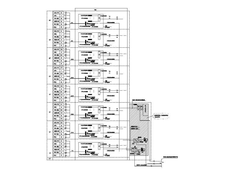 [一键下载]8套大型医院电气图纸合集-[福建]省立医院门诊楼电气施工图(强弱电)-8综合布线系统图