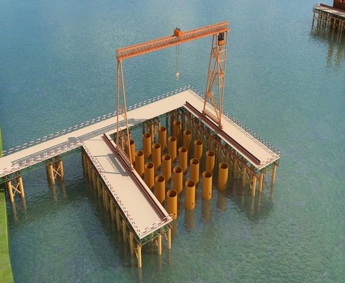 桥梁设计方案汇报材料资料下载-40#墩双壁钢围堰承台施工汇报材料