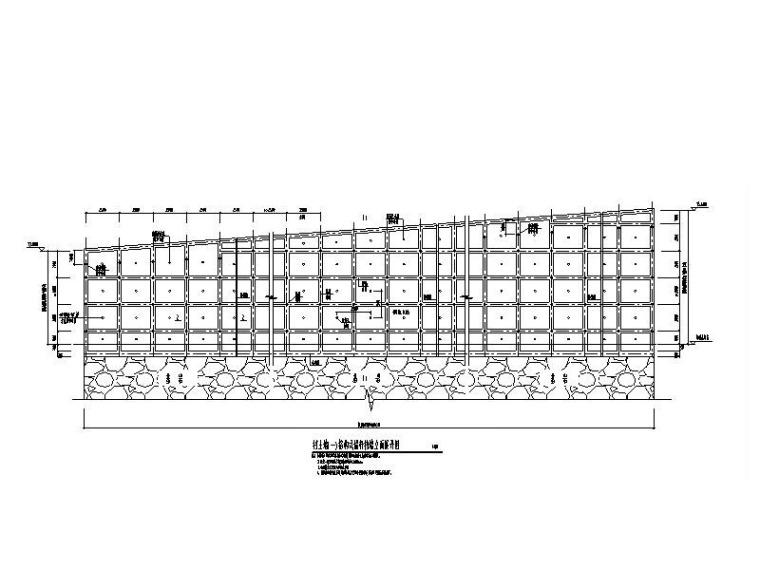 衡重式格构式挡土墙施工图CAD