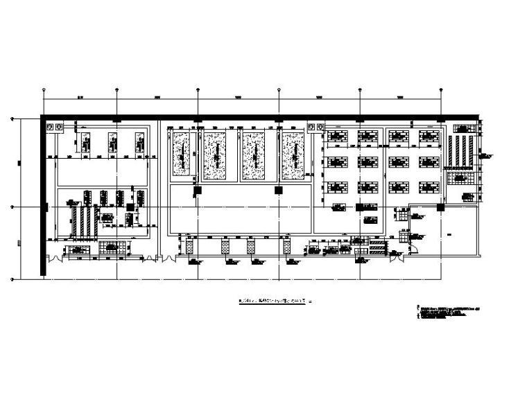 制冷机房、换热站基础及排水沟平面图