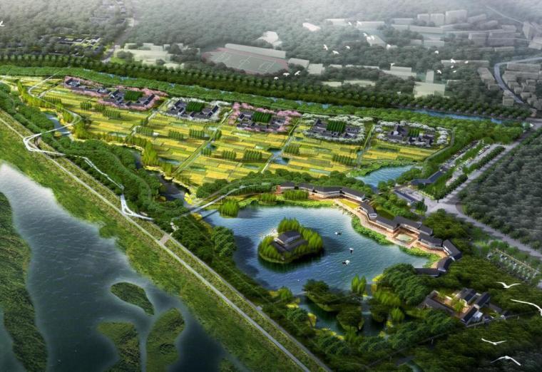 [广东]生态滨水湿地公园景观方案设计