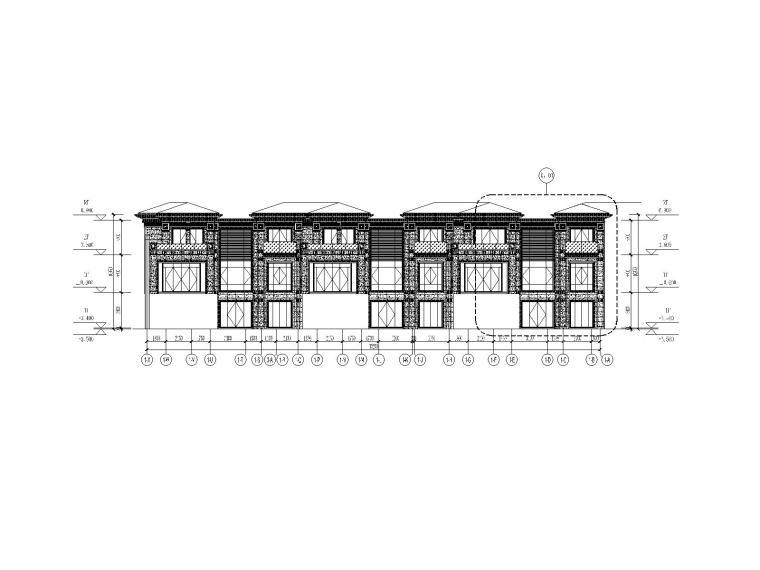 [北京]多层剪力墙结构住宅楼幕墙工程设计图