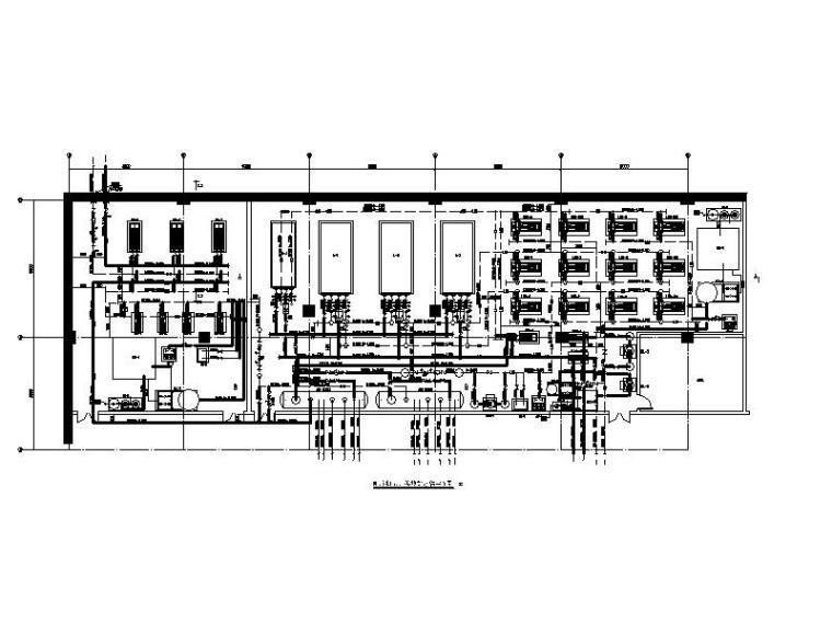 制冷机房、换热站水管平面图