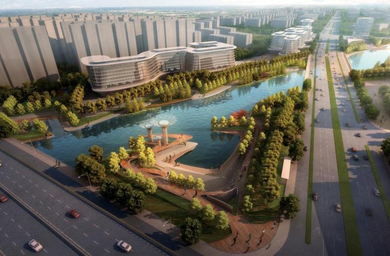 欧式独栋二层滨水资料下载-[浙江]杭州滨江河畔滨水景观设计