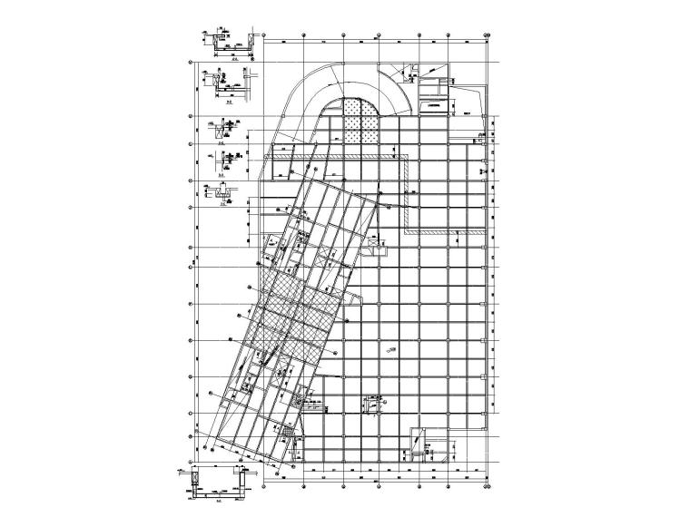 [大连]3层框架结构超长地下室结构施工图