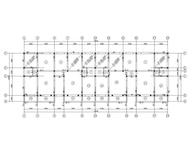 六层砌体结构住宅施工图(CAD)