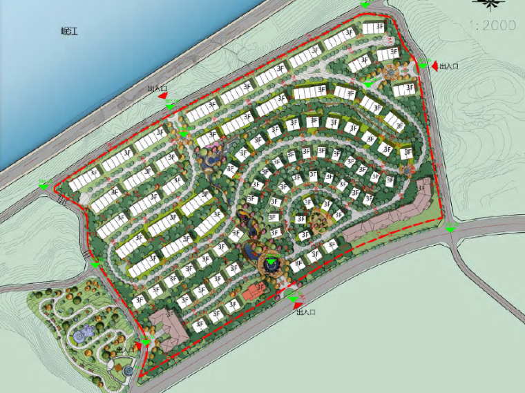 [四川]宜宾居住区概念规划设计方案