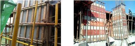 FS外模板主次楞的施工处理 废旧模板连接的次楞骨架