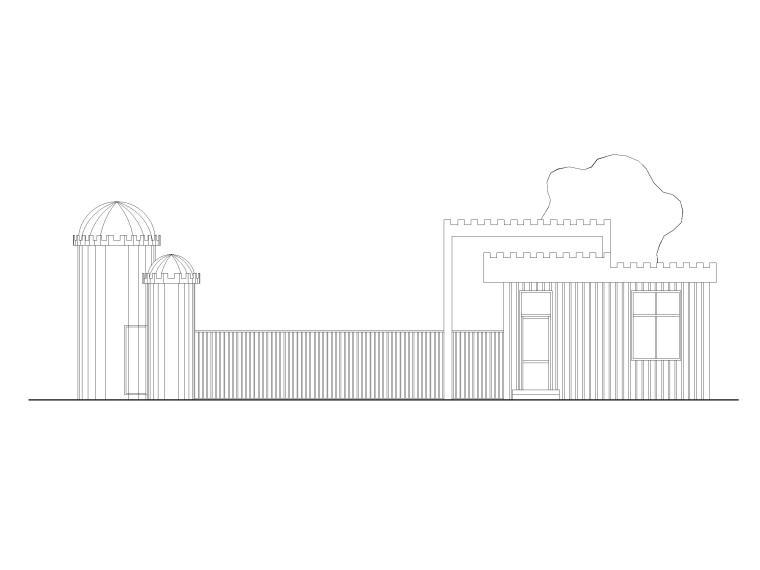 实验幼儿园大门建筑施工图