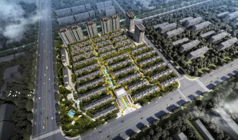 [上海]自然舒适拼叠别墅区景观设计方案