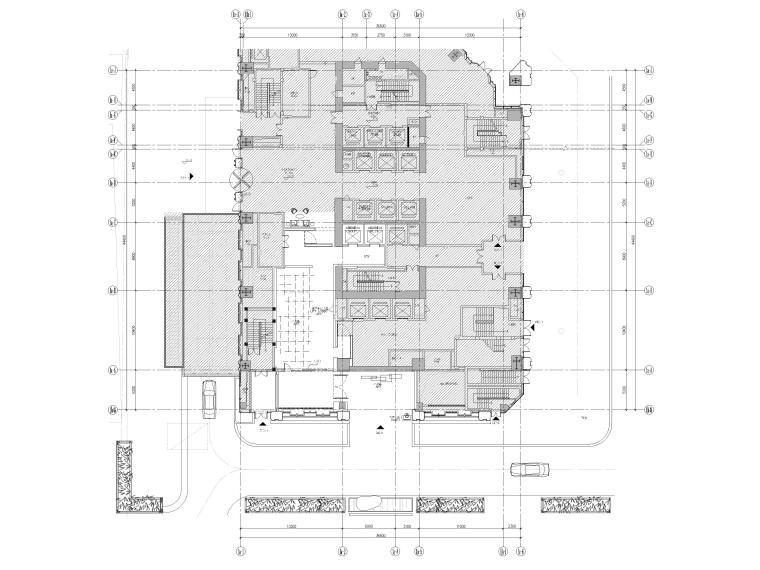 1F接待厅平面布置图