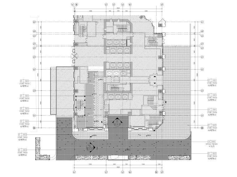 1F接待厅地面铺装图