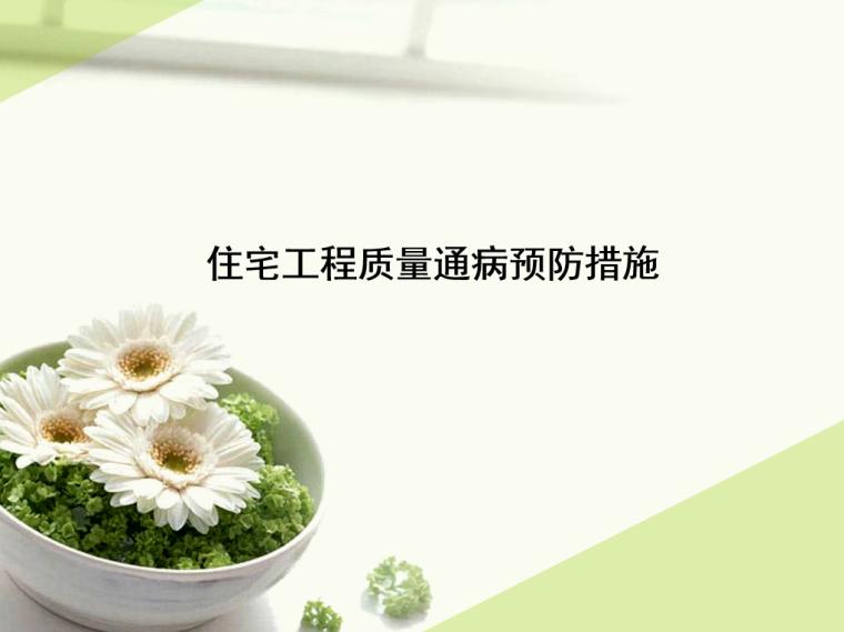 [重庆]住宅工程质量通病预防措施PPT