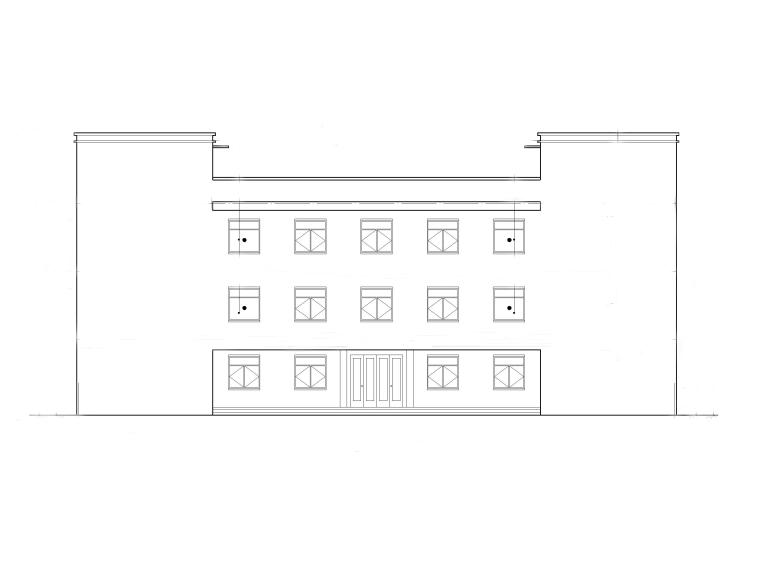 三层中学食堂建筑施工图_框架结构