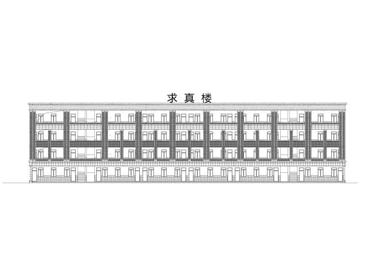 四层中学教学楼建筑方案图(CAD)