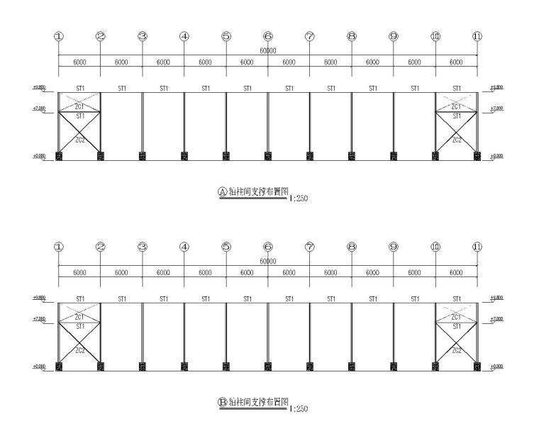 结构立面布置图