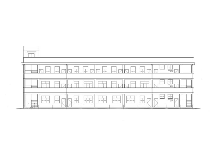 三层小学办公综合楼建筑施工图