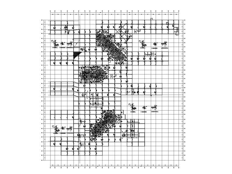 [上海]单层框架结构人防地下车库结构施工图