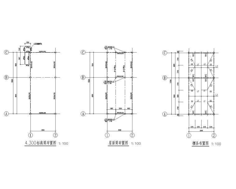 某循环泵房混凝土结构施工图(CAD)