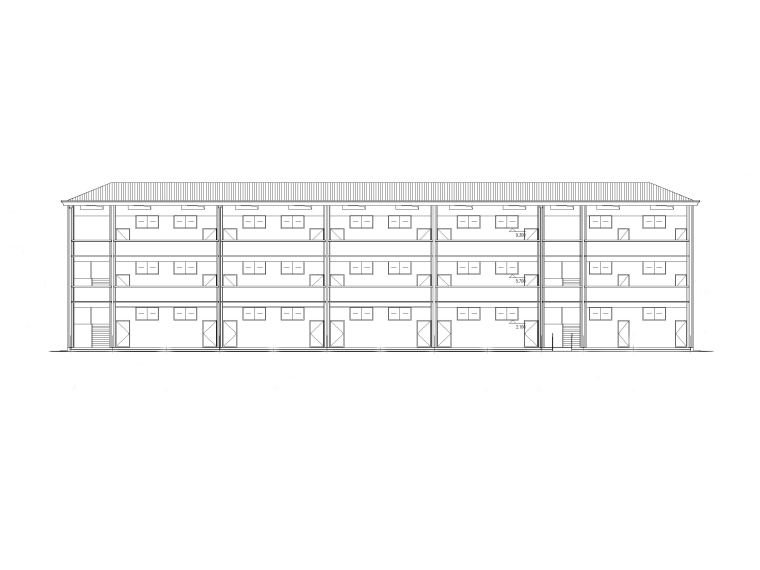 框架结构三层小学教学楼建筑施工图