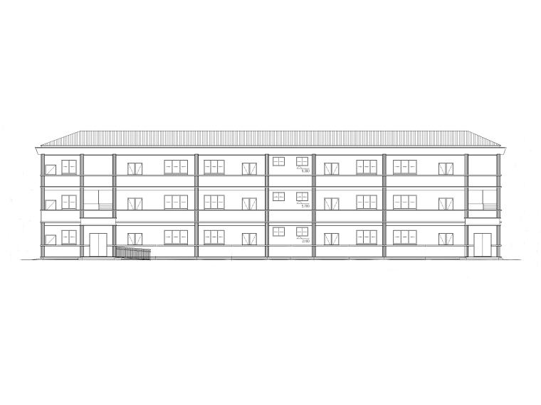 框架结构三层小学幼教楼建筑施工图