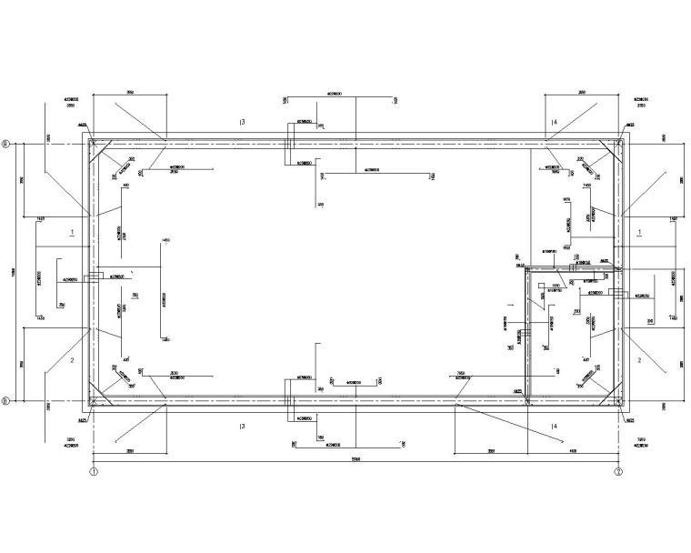 某消防废水池混凝土结构施工图(CAD)
