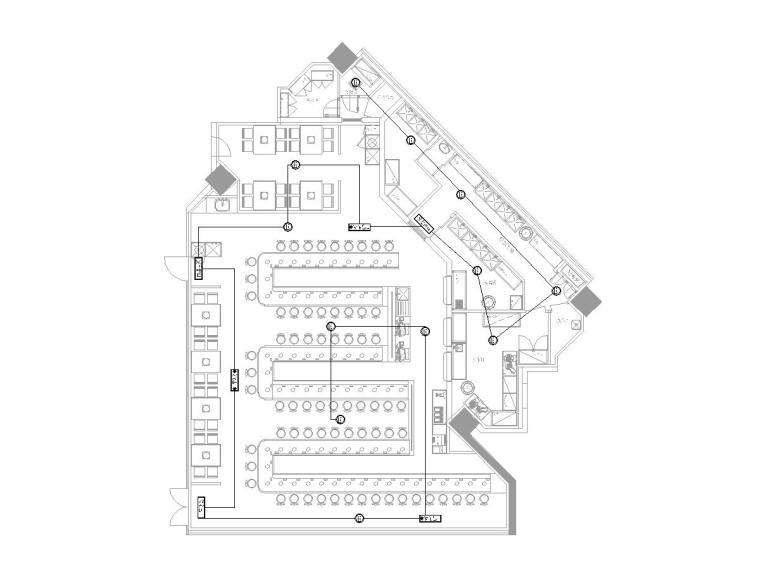 [天津]知名火锅店装饰配套电气图纸