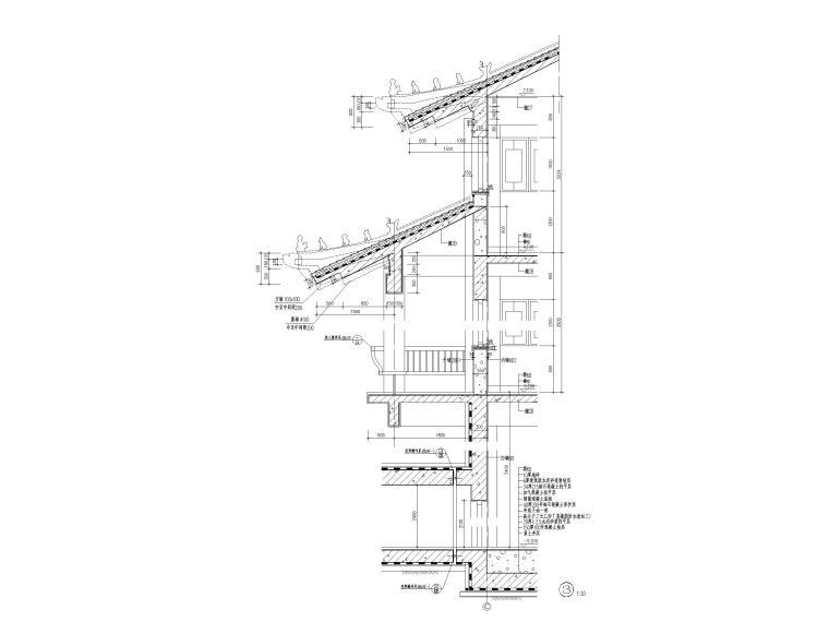 古建筑墙身大样图(CAD)
