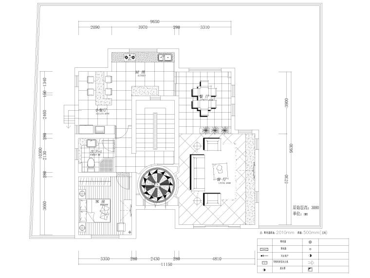 451㎡现代二层别墅室内装饰设计施工图