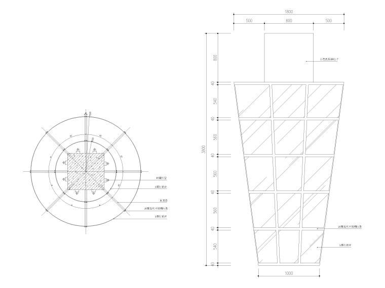 玻璃发光柱节点图