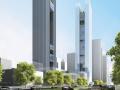 超高层办公综合体_公寓塔楼建筑方案文本