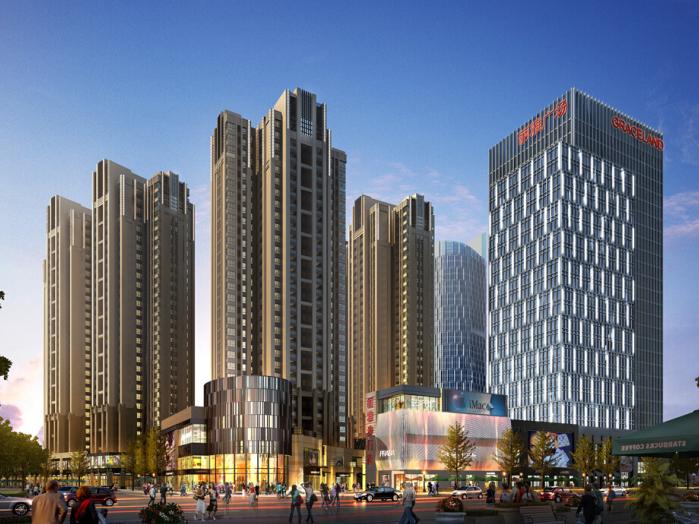 成都高层住宅cad资料下载-[成都]商业综合体_新古典高层住宅建筑模型