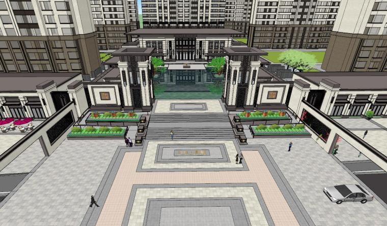 新古典豪宅建筑模型设计 (1)