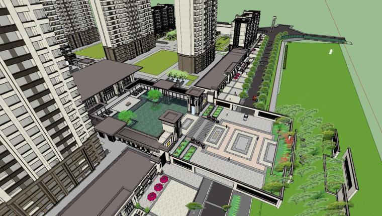 新古典豪宅建筑模型设计 (3)