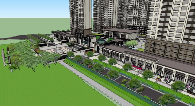 新古典豪宅建筑模型设计 (4)