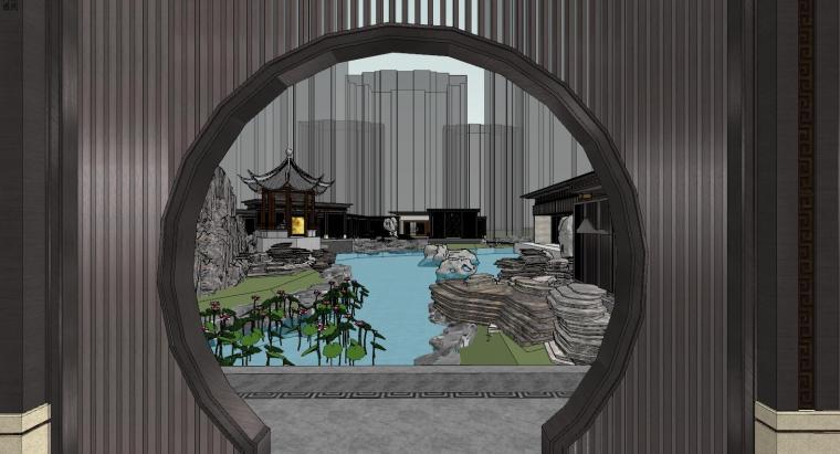 中式示范区住宅建筑模型设计 (5)
