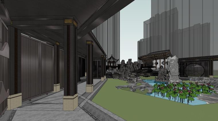 中式示范区住宅建筑模型设计 (6)