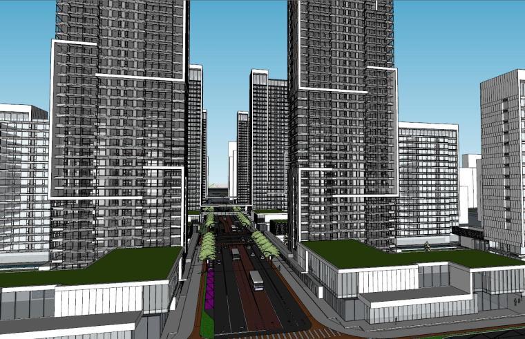 [山东]现代风格现代高层住宅建筑模型设计
