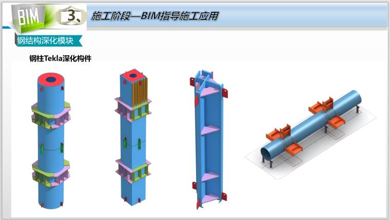 50层办公大厦各阶段BIM应用(含场布模型)-钢结构深化模块