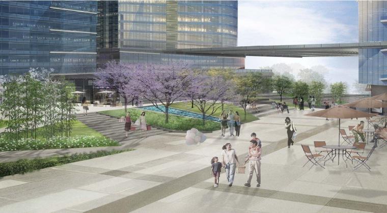 [广东]城市商业综合体中心广场景观设计方案