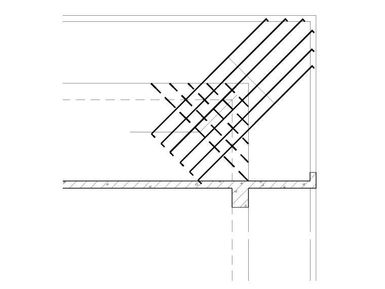 挑板转交位于阳台时的加强配筋