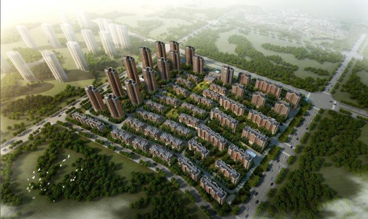 [天津]现代简约大气居住区景观设计方案