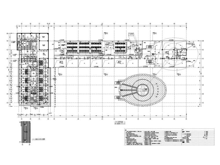 塔楼二十二层平面图